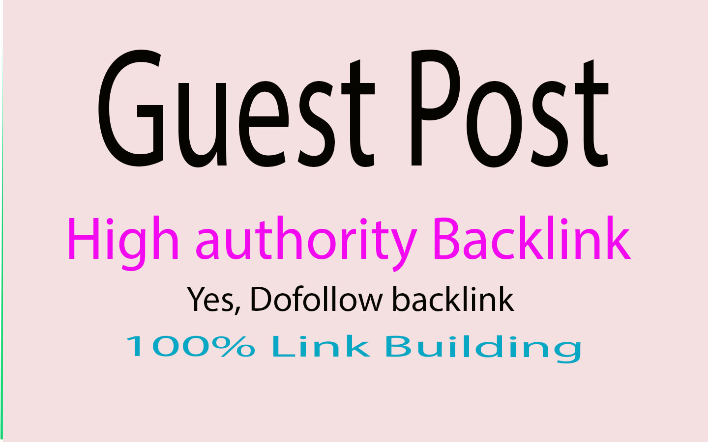 I will Provide 50 high authority guest post seo backlinks
