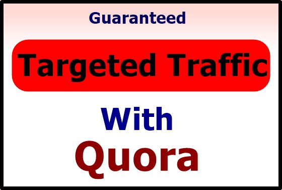 Offer High quality traffic with 30 quora answers