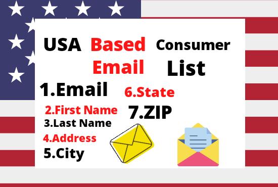 I will provide 4k USA based consumer email list