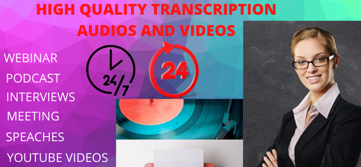transcribe an English audio or video into text with accuracy