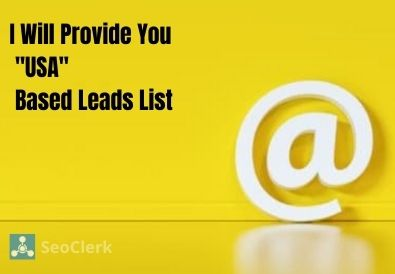 I Will Provide You 'USA' Based Active Leads - 100 Guarantee
