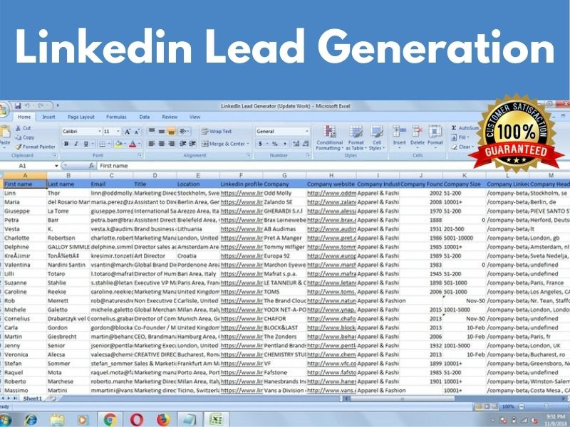 I will do targeted b2b LinkedIn lead generation email list building