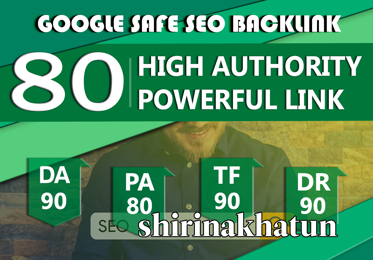 I Will Manually Do80UNIQUE PR10 SEO BackIinks On DA90 Sites To RANK Your Website