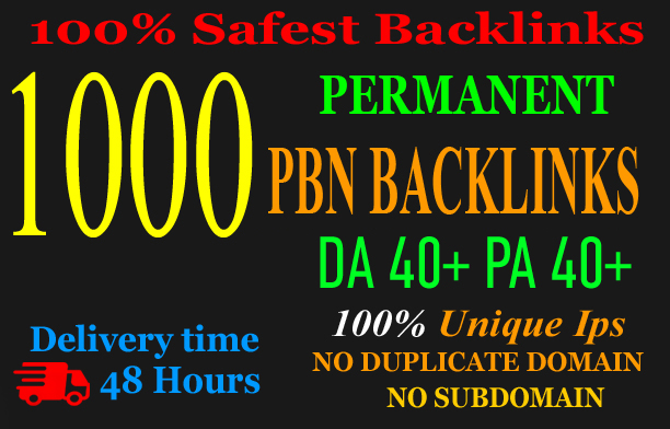 Build 1000+parmanent PBN with High DA 40+ PA 40+and 100 Dofollow with