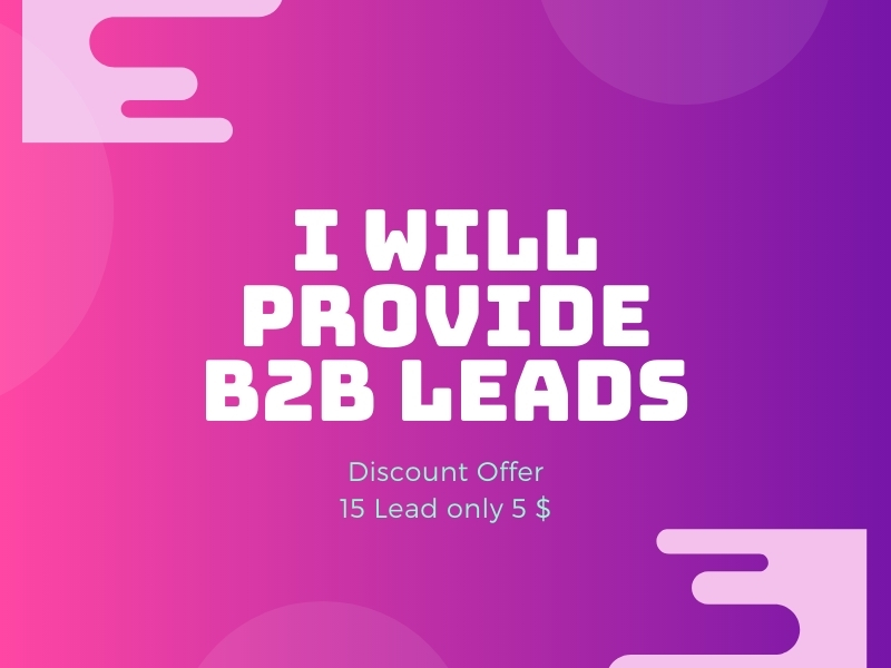 I will collect b2b lead generation and website data