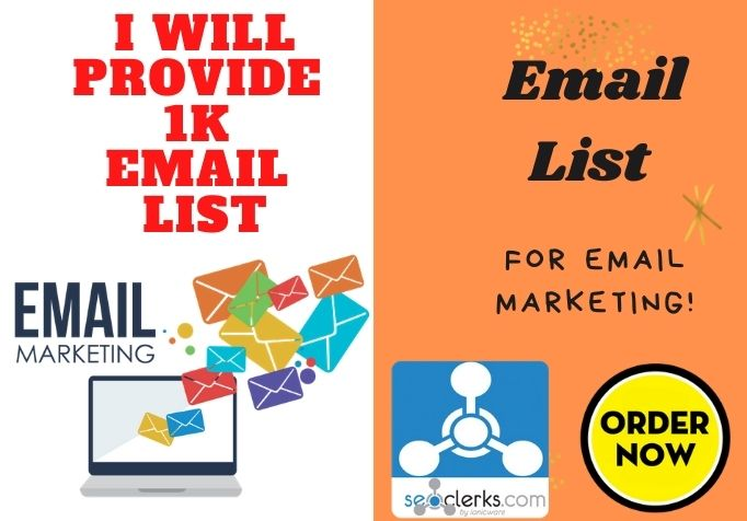 I will give 1K USA Verified Email List for email Marketing