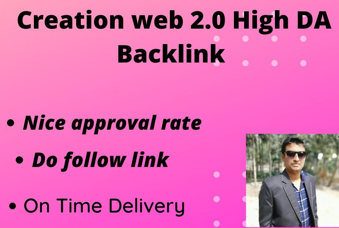 I will provide web 2.0 High DA Backlink service for SEO Ranking