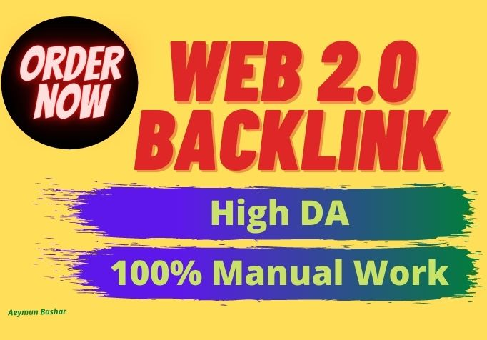 Get 12 High DA Web 2.0 backlinks to boost your ranking