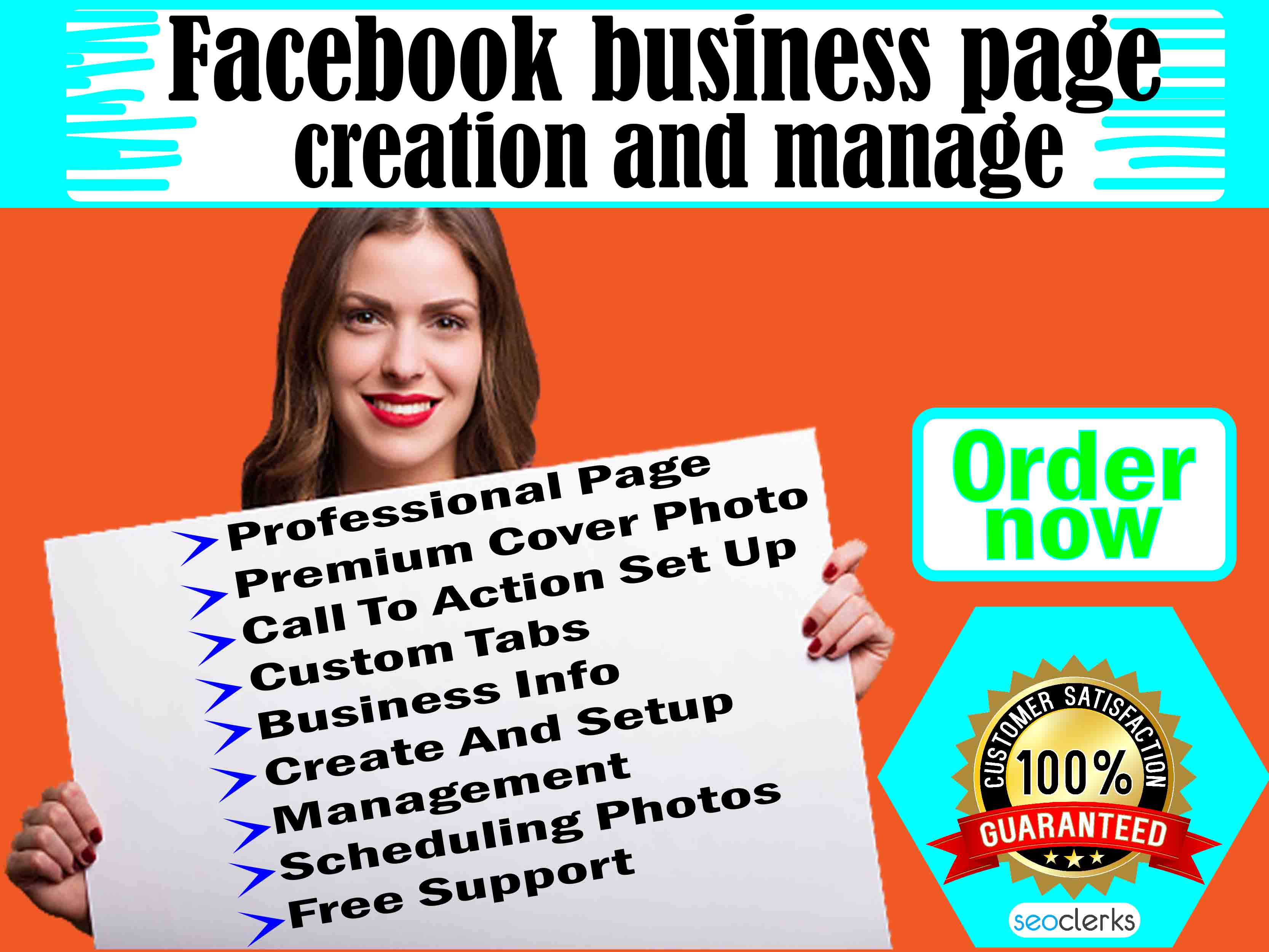 I will fix create or optimize and design facebook business page