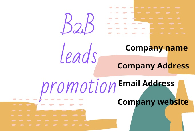 I will research and find 30 company information for B2B leads promotion