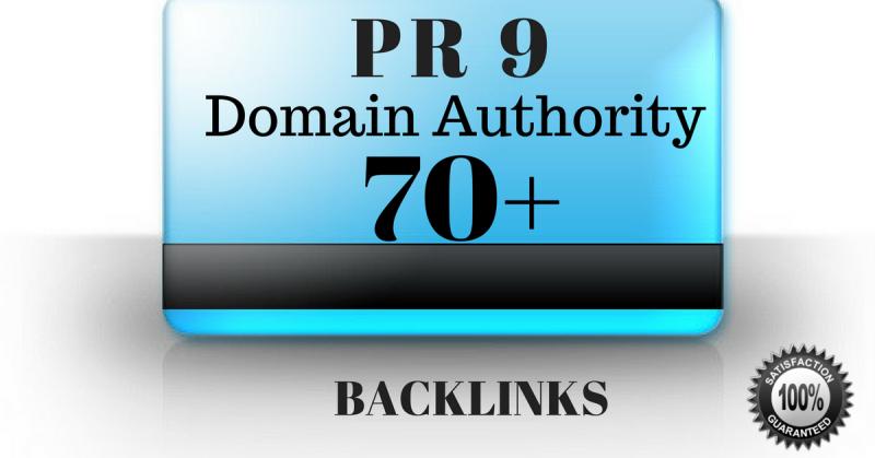 Get PR9 - Domain Authority 70+