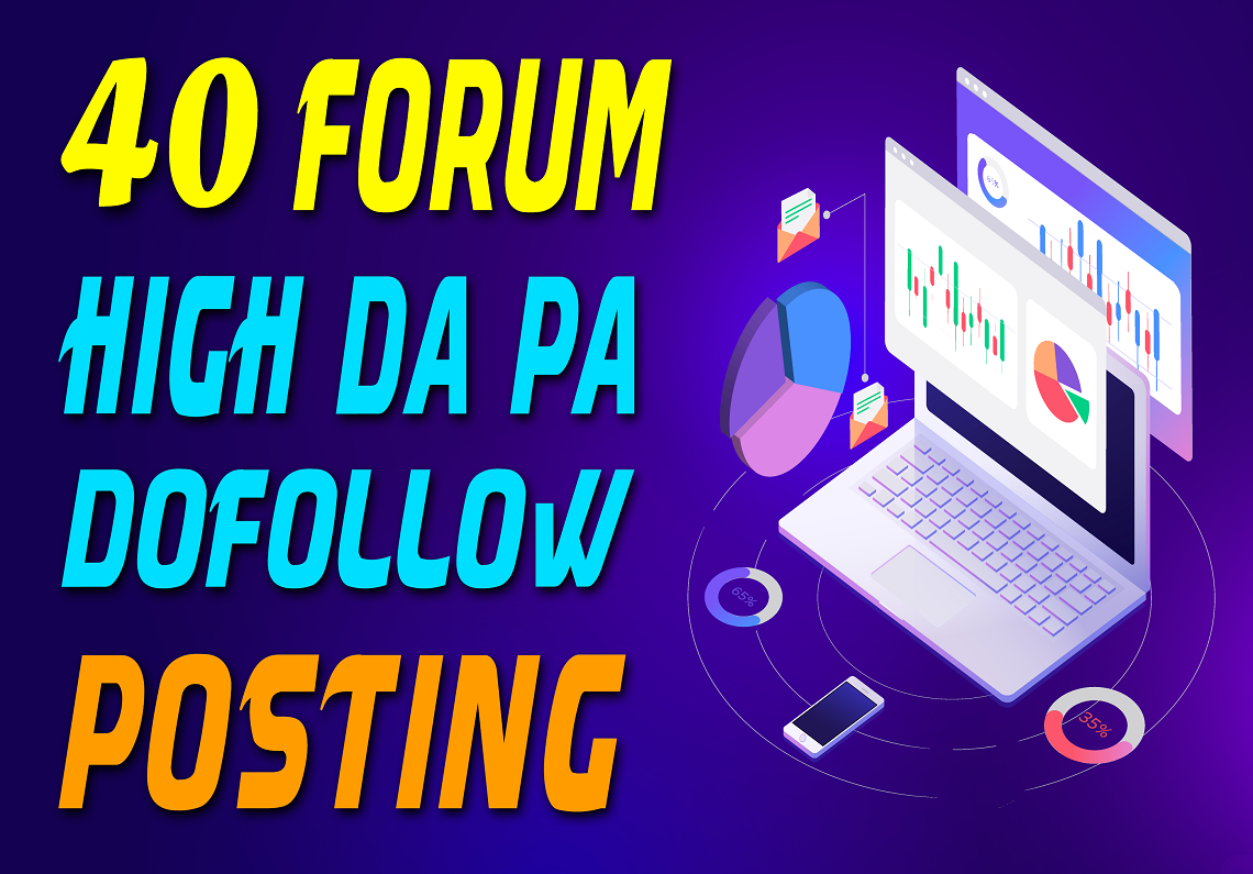 Get Dofollow 40 Forum Profile Links to Skyrocket Website DA40-100