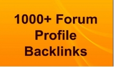 Get 1000+ HQ forum profiles Backlinks for your website