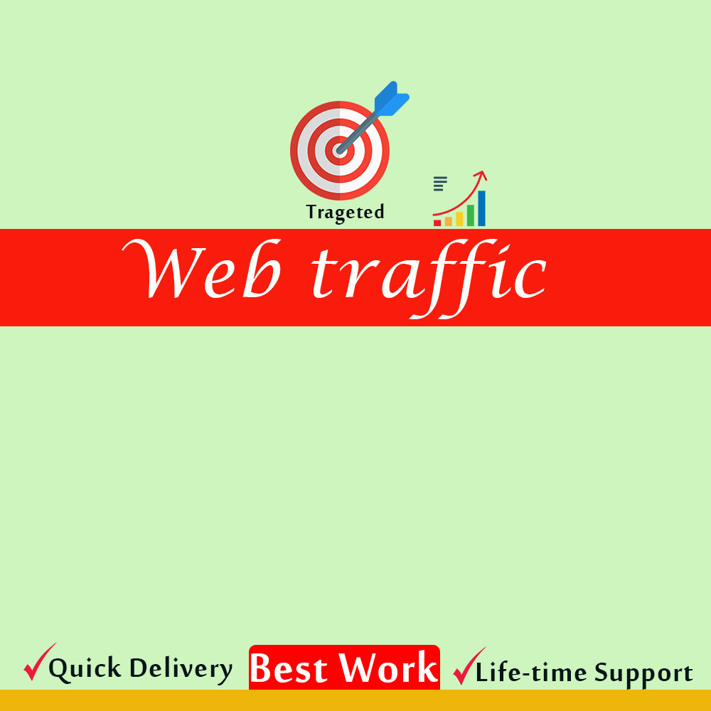 I will drive organic safe web traffic