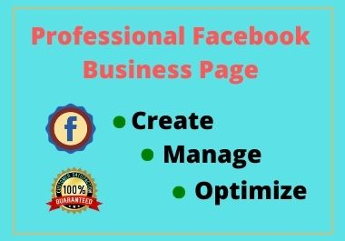 I will Design Professional Facebook Business page & SEO Optimize