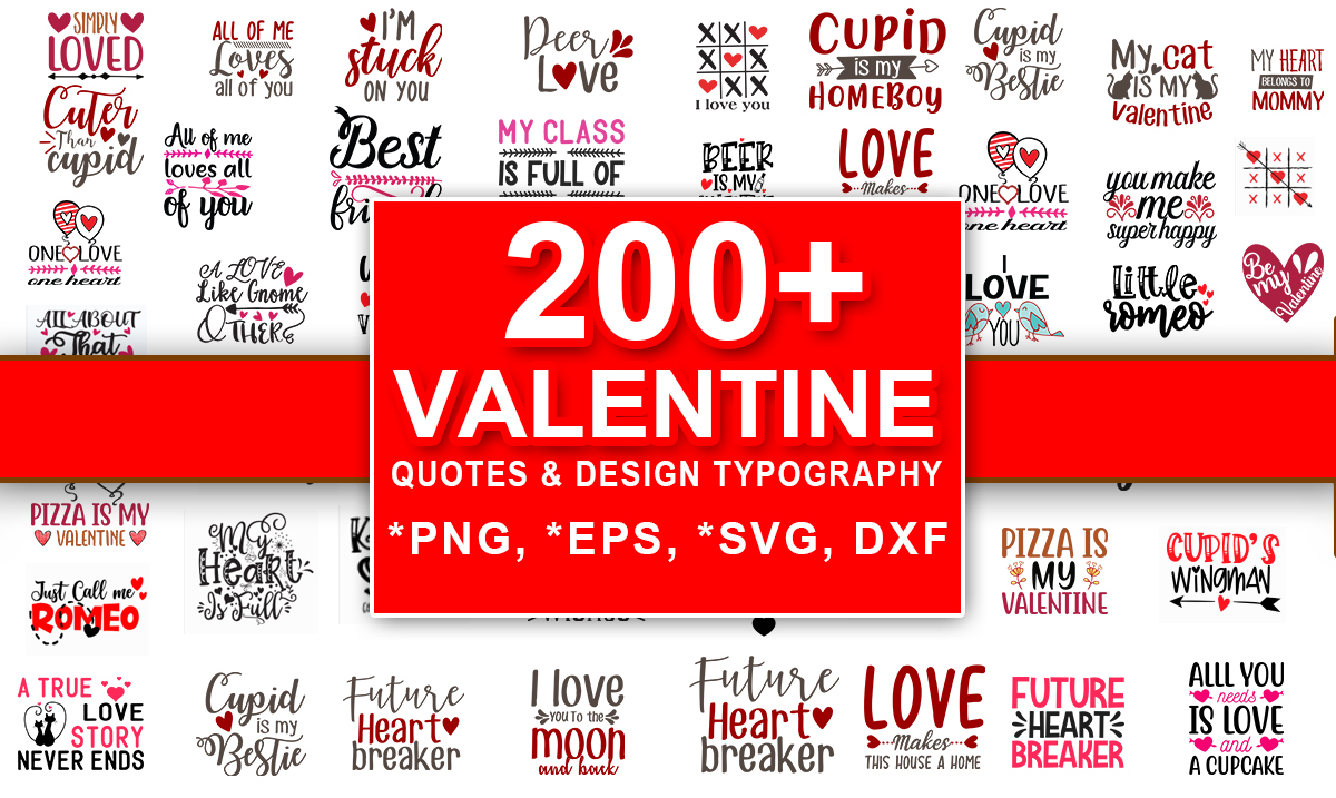 deliver 200 valentine quotes t shirt design typography vector svg