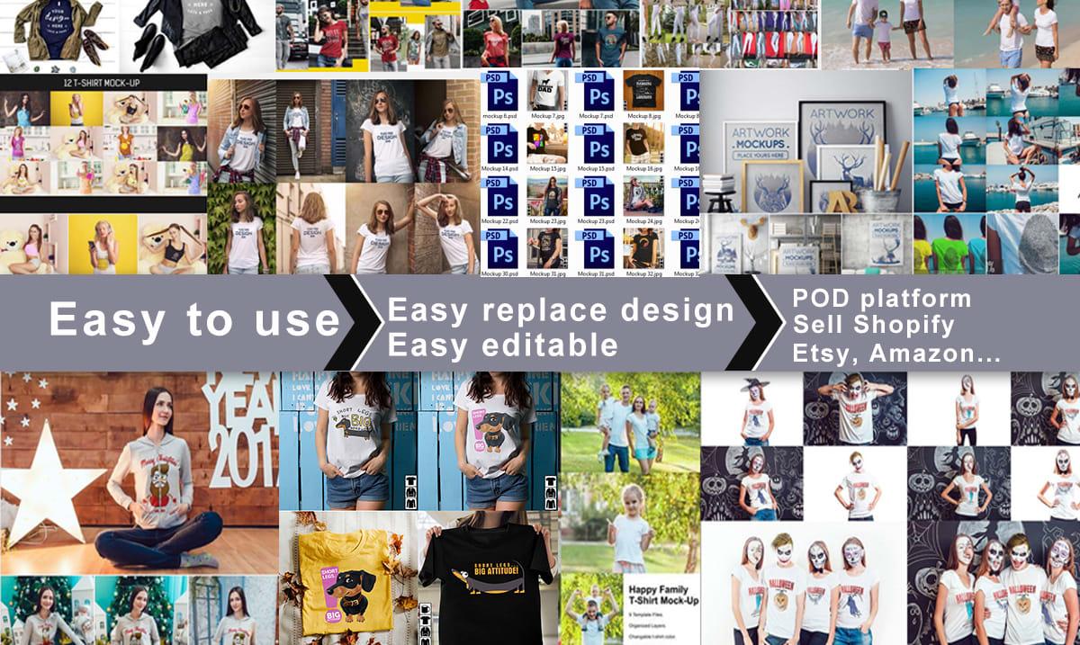 Deliver 3500 T-shirt Mockups PSD Download Mockup Tshirt PSD