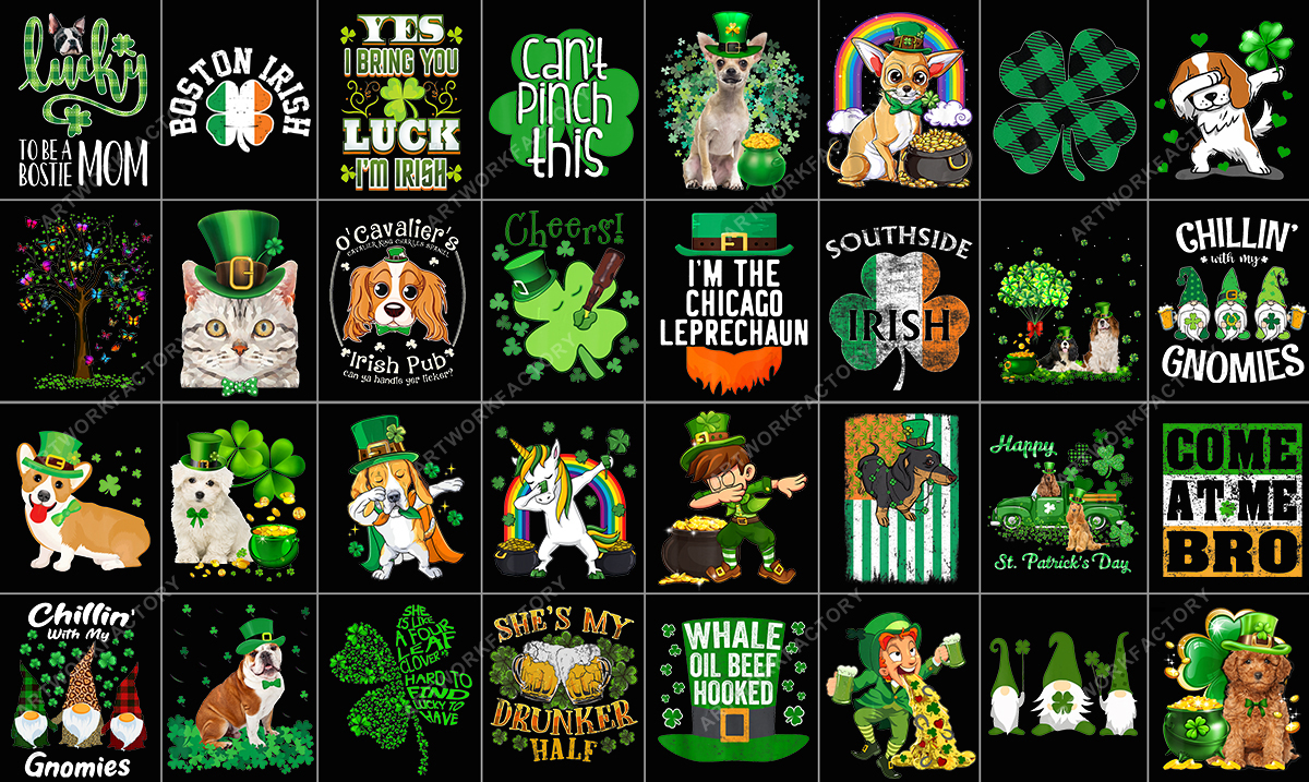 Delivery 500 PNG Tshirt Designs For St Patricks Day T shirt bundle