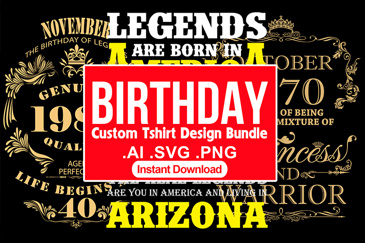 Delivery Custom Birthday T shirt Design Vector Bundle
