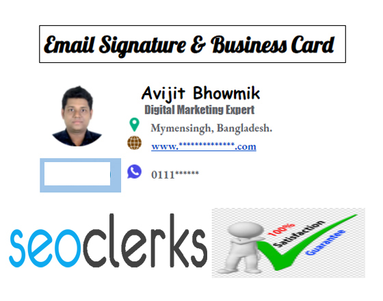 Provide clickable Email Signature and Business Card