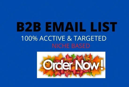 I will create niche targeted B2B email list