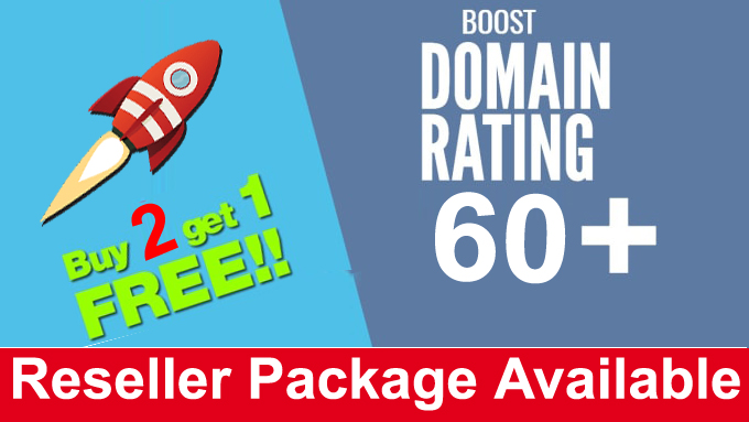 I will increase dr domain rating ahrefs 60 plus with URL Ratings guaranteed