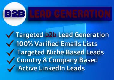 I Will Provide Targeted 100 b2b Lead Generation with Valid Information