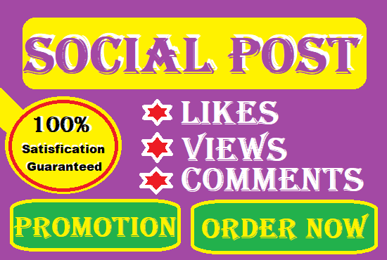 Marketing your social Post for promotion