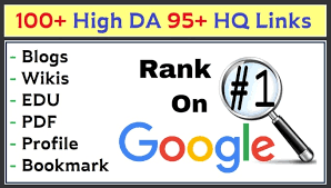 100+ High DA 95+ HQ Links to RANK your website by boosting your web authority for google ranking