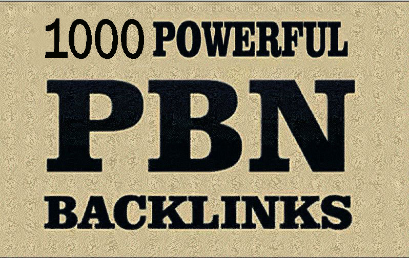 1000 Homepage PBN dofollow high authority backlinks