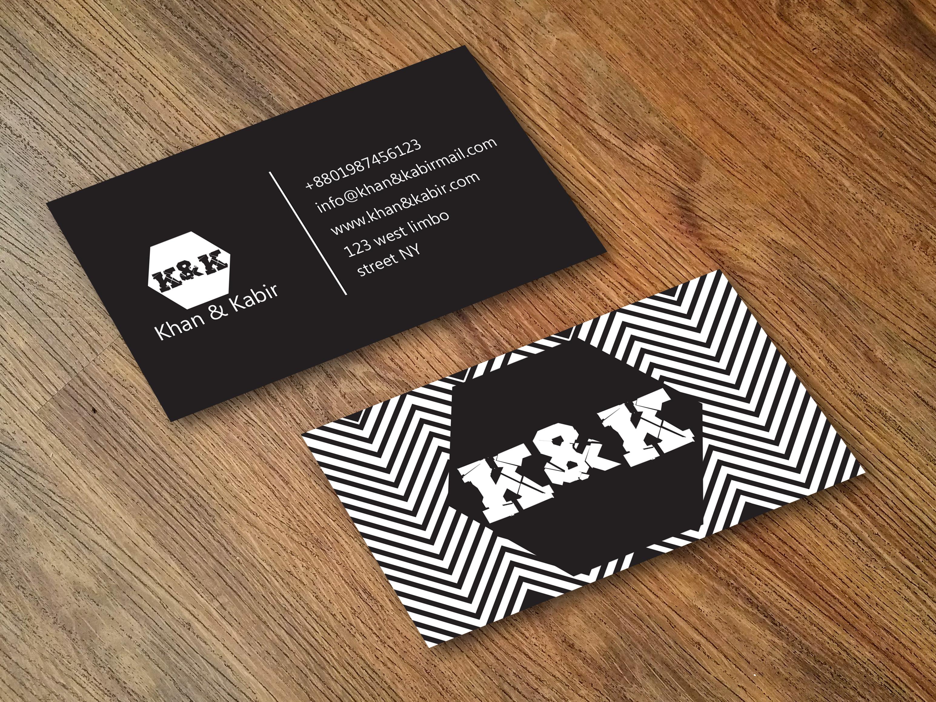 I wil make creative business card, Gold foil, Moo design