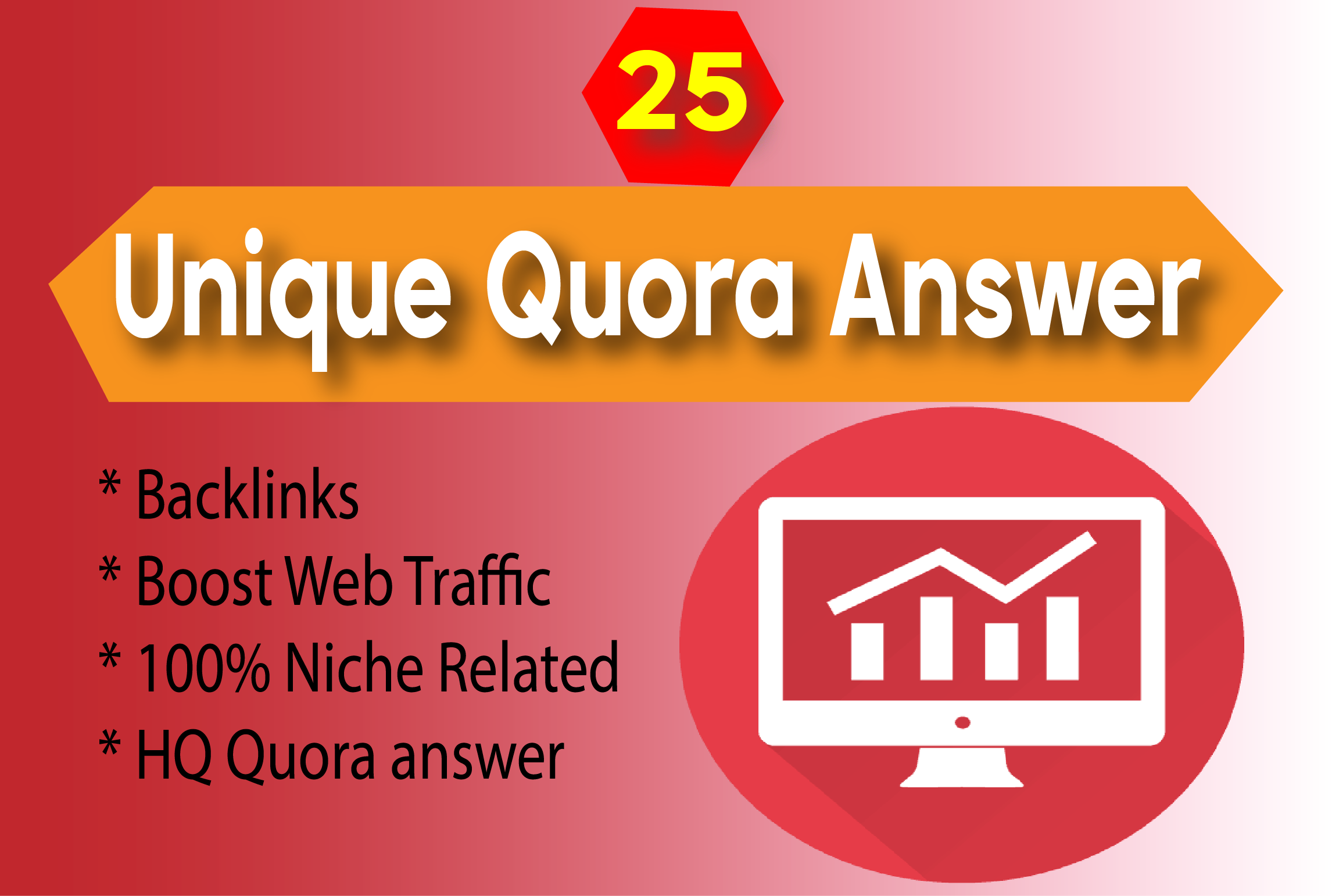 Promote your Website by 25 HQ Quora Answer with Unique Article
