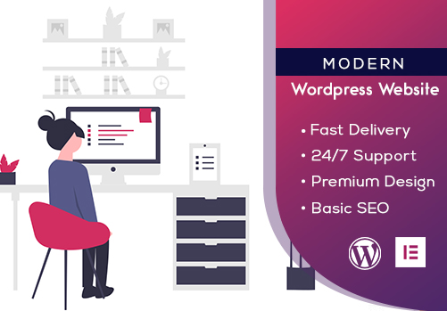 I will make a complete modern website using wordpress