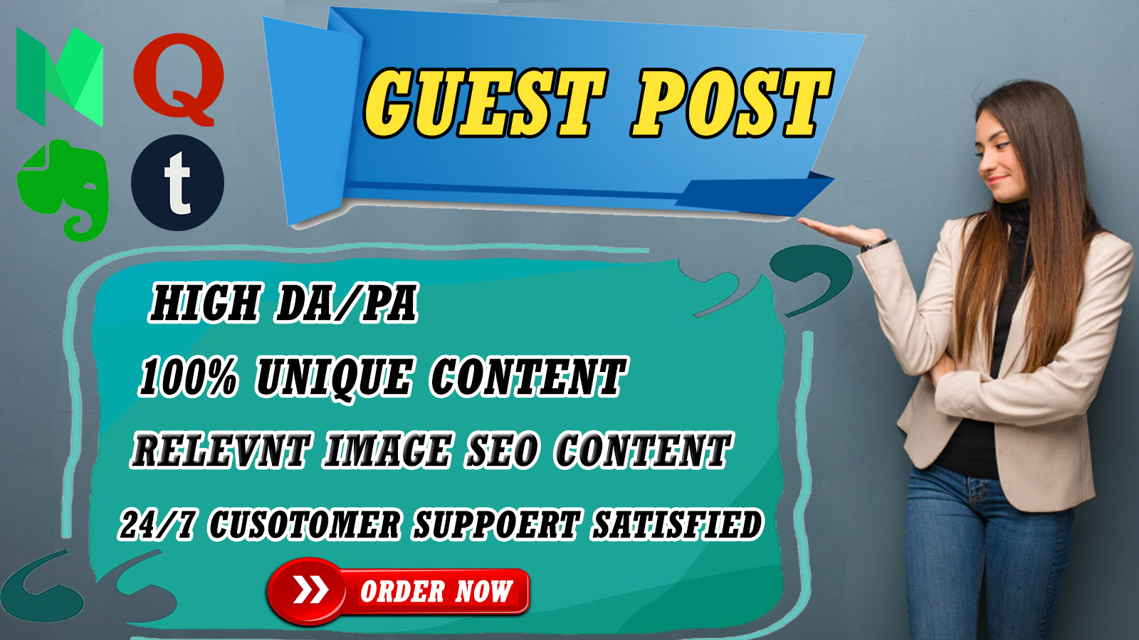 I will write and publish High DA guest post For Ranking on your website