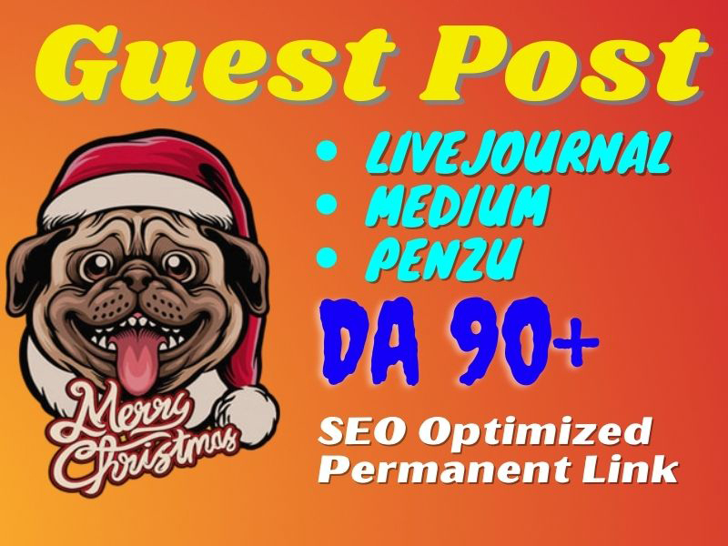 I will Guest Post on 3 High DA Websites with permanent backlinks