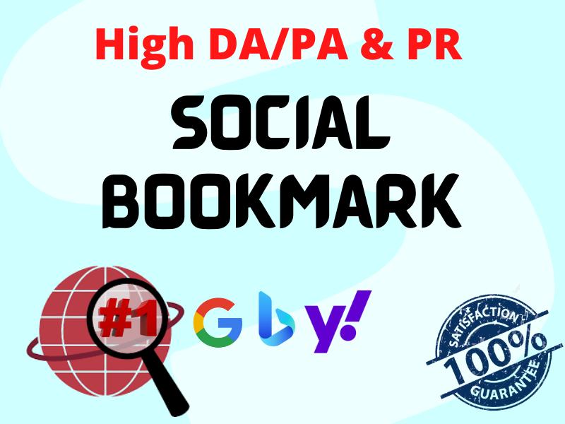 I will Provide 20 High DA PA & PR Social Bookmarking Backlink Services