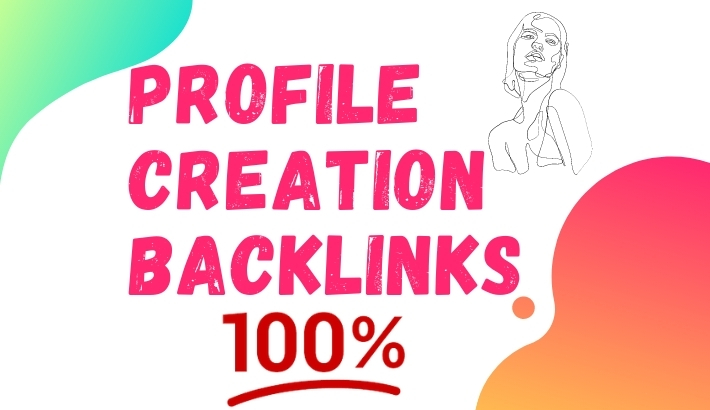 I will do20 profile creation backlinks for your website