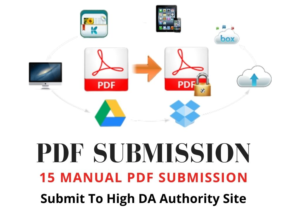 I will manually do pdf submission to top 15 pdf share website