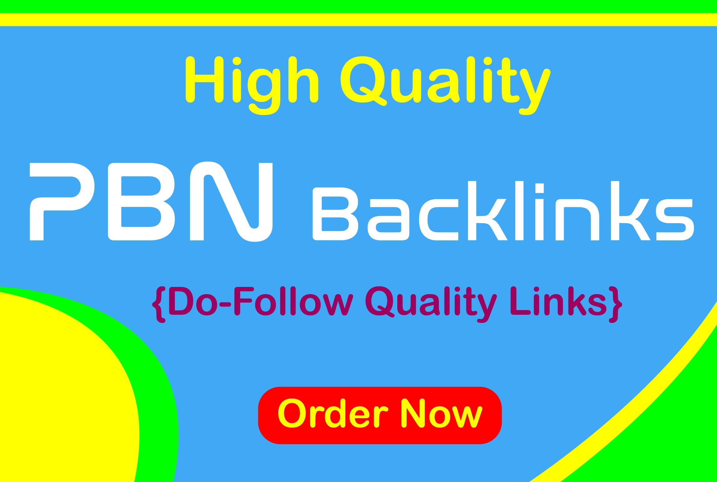 Build 10 High PA DA TF CF MainPage PBN Backlinks - Dofollow Quality Links
