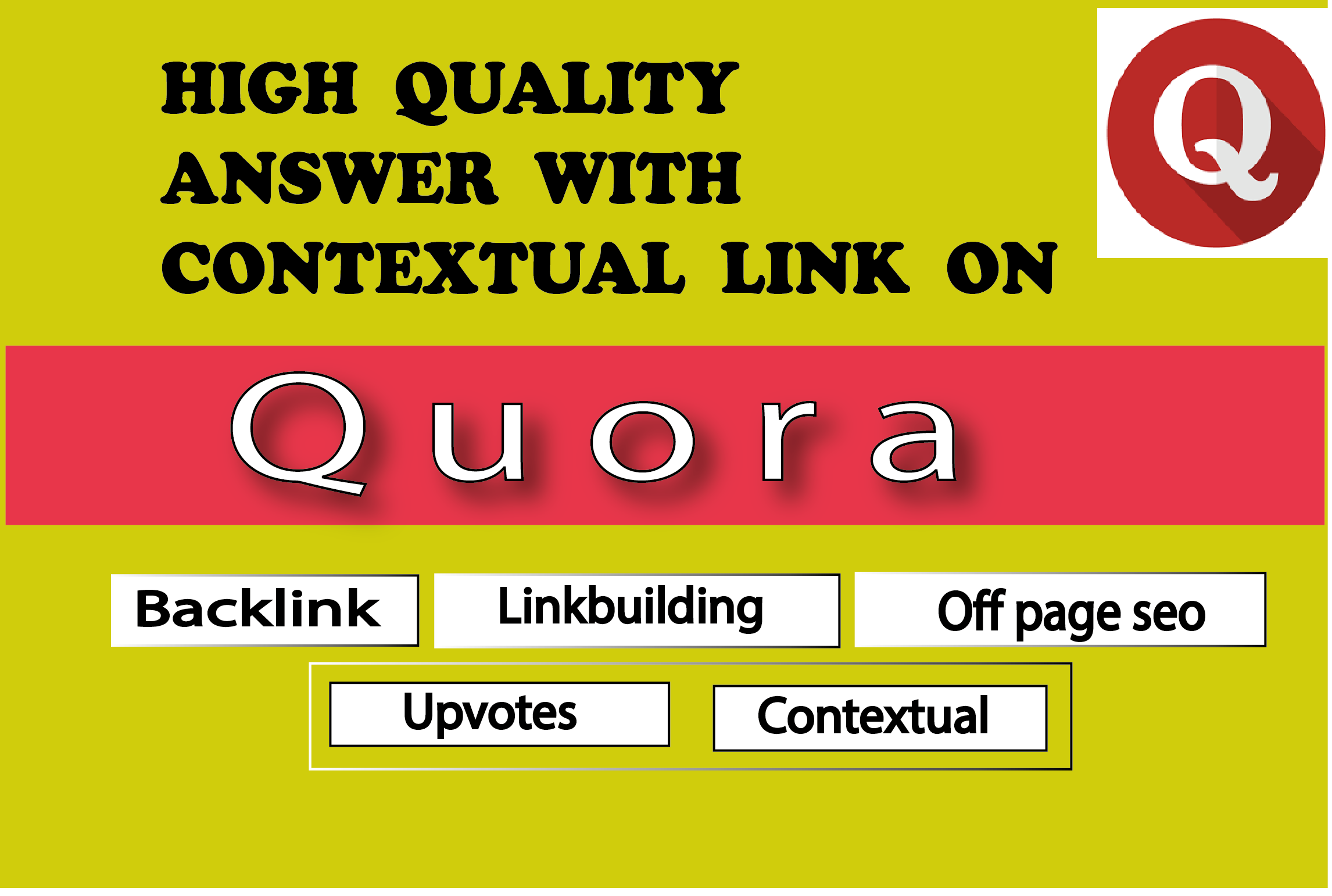 30 unique Quora answer with backlink