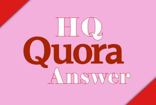 I Provide 10 High Quality Quora Answer with Backlinks