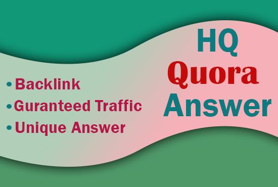 I Provide 50+ High DA, PA Quora Answers Backlink