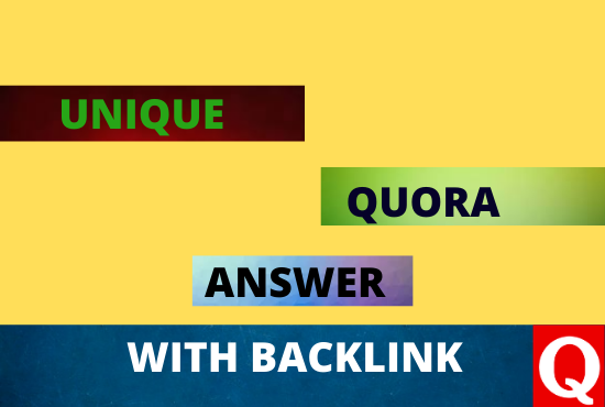 Promote your website with 30 high quality Quora Answers with website backlink