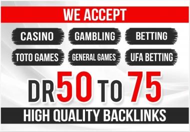 Total 1000+ Backlinks We accept casino,  gambling,  betting,  toto games,  general games,  ufa betting