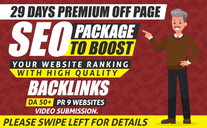 All in one Seo service packages we accept website or video ranking HQ backlinks DA 50+ PR 9 website