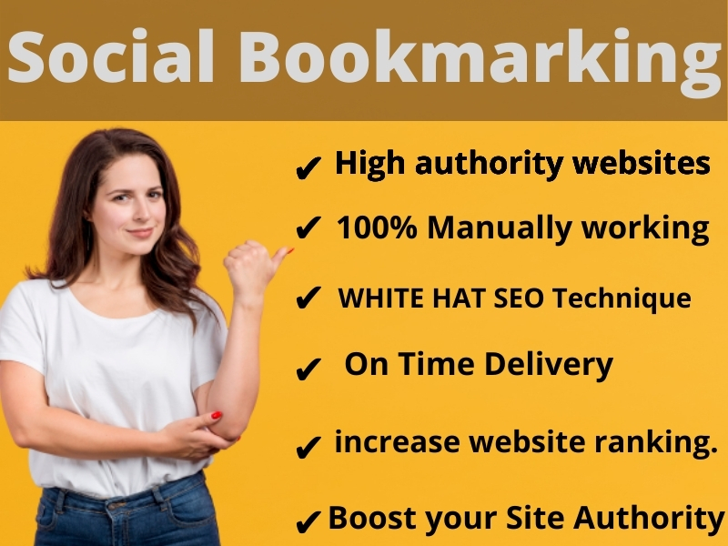 I Will Create Manually 60 Social Bookmarking Backlinks For increase your website rank