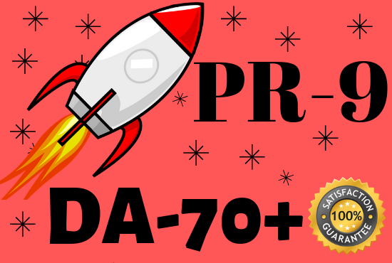 Provide you manually 30 PR9-DA70 backlinks