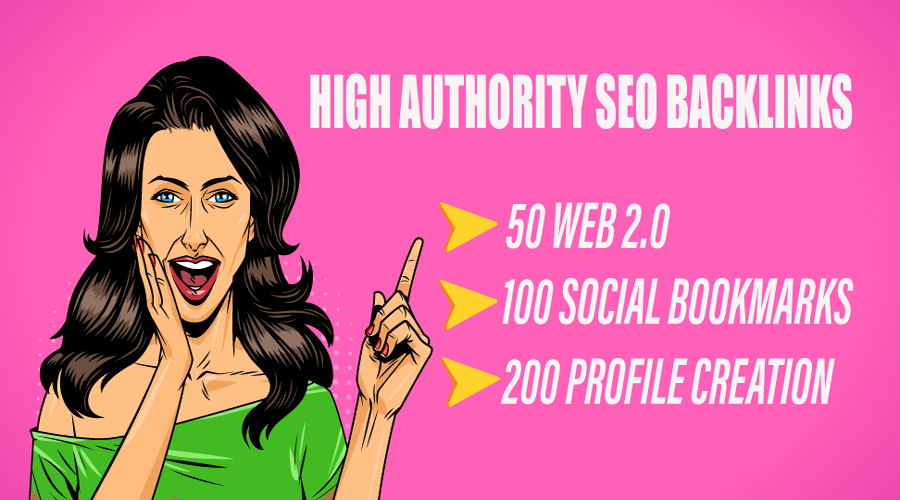 I will create high authority SEO backlinks.