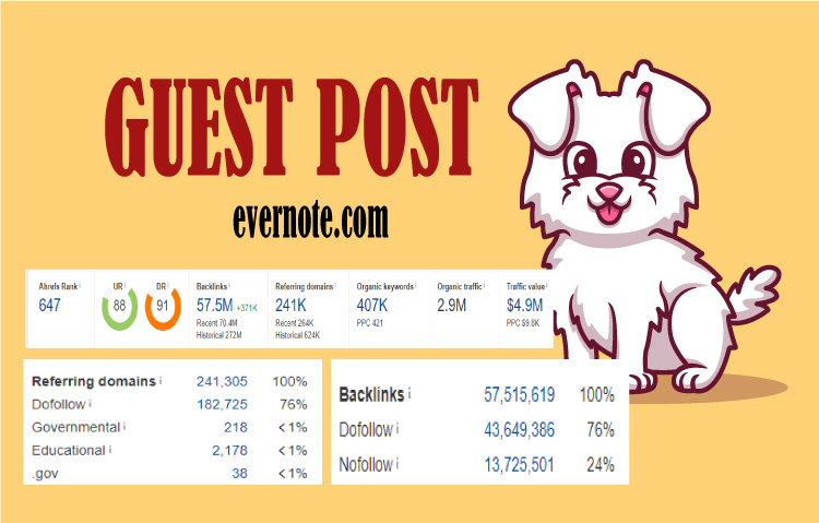 I will do high da guest post on Evernote- 500+ word per content.