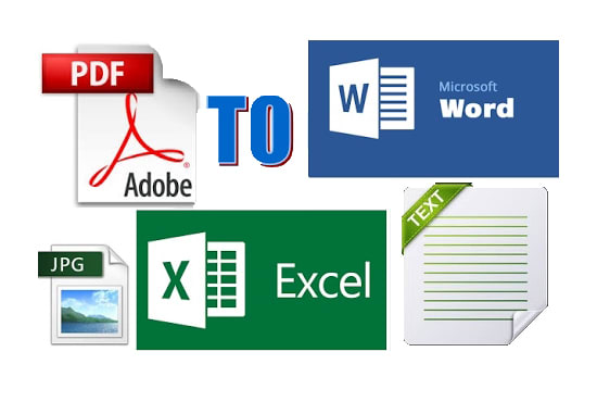 convert and edit bank statement, bill PDF to excel or word